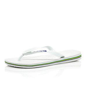 White Havaianas flip flops