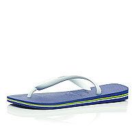 Blue Havaianas flip flops