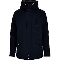 Blue casual padded jacket
