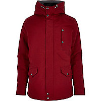 Red casual padded jacket