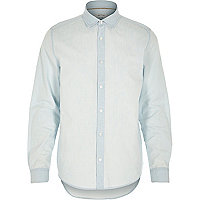 Light wash denim button up shirt