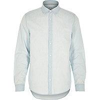 Light wash denim button up shirt