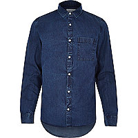Mid wash classic denim shirt
