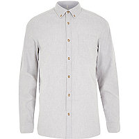 Grey yarn Oxford shirt