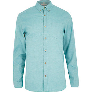 Green yarn Oxford shirt