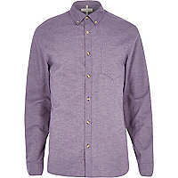 Purple yarn Oxford shirt