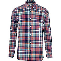 Purple check long sleeve shirt