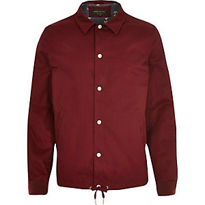 Red lightweight casual coach jacket