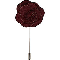 Red rose lapel pin