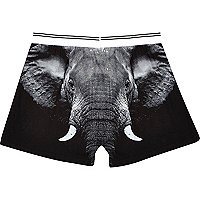 Black Elephant print boxers