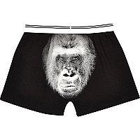 Black gorilla print boxers