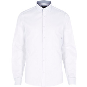 White Oxford dobby shirt