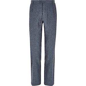 Pantalon habillé Holloway Road bleu