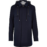 Navy Holloway Road structured coat