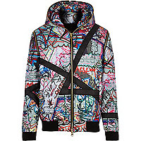 White James Long printed bomber jacket