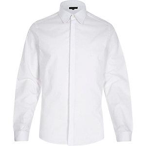 White penny collar shirt