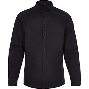 Black formal double cuff shirt