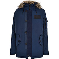 Navy Bellfield technical parka jacket