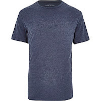 Blue marl crew neck t-shirt