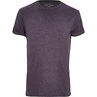 Dark purple crew neck t-shirt