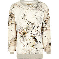 White Holloway Road marble print sweatshirt