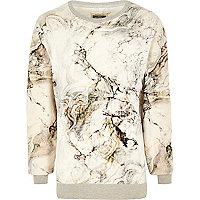 White Holloway Road marble print sweatshirt