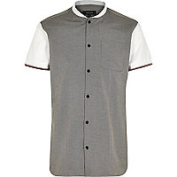 Grey short sleeve baseball shirt
