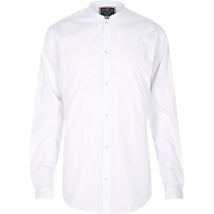 White Holloway Road grandad shirt