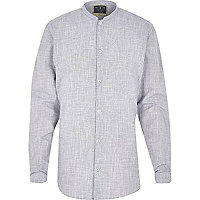 Grey Holloway Road grandad shirt