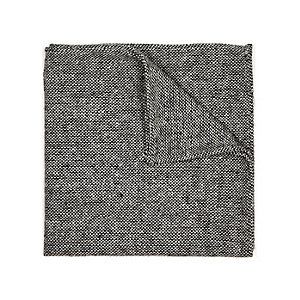 Grey tweed pocket square