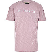 Pink Holloway Road logo t-shirt