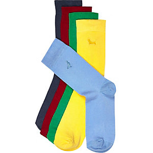 Mixed embroidered icon socks pack