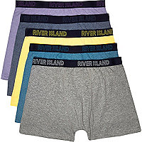 Mixed RI marl boxer shorts pack