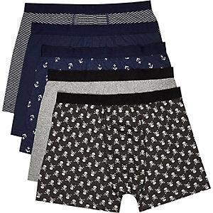Navy sailor boxer shorts pack