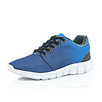 Blue ombre trainers