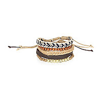 Ecru light beaded bracelet pack