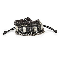 Black assorted bracelet pack