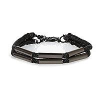 Black mesh tube bracelet