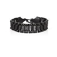 Black chain biker bracelet