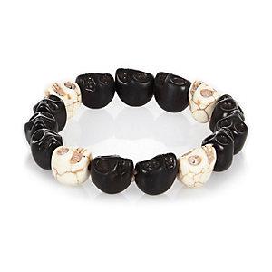 Black chunky skull bracelet
