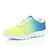 Yellow ombre neon trainers