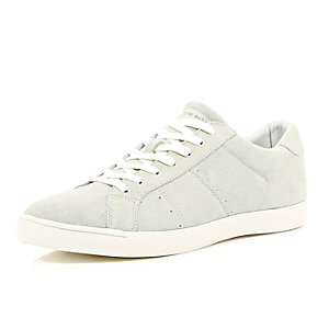 White suede trainers