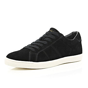 Black suede trainers