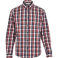 Red check long sleeve shirt