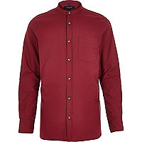 Red long sleeve grandad shirt