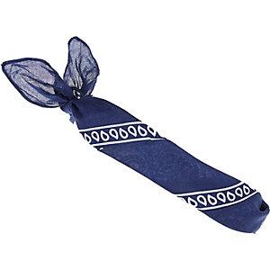 Navy printed bandana