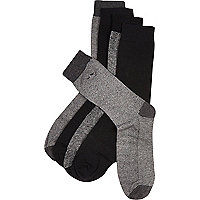 Grey moustache icon socks pack