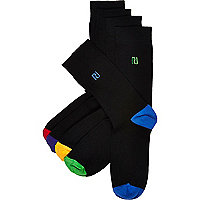 Black RI branded socks pack