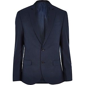 Blue tailored slim suit jacket