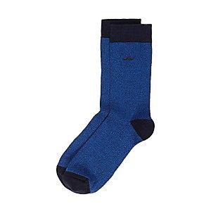 Blue moustache icon socks